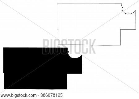 Roseau County, Minnesota (u.s. County, United States Of America, Usa, U.s., Us) Map Vector Illustrat