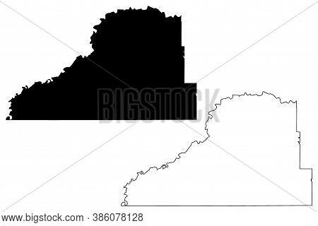 Scott County, Minnesota (u.s. County, United States Of America, Usa, U.s., Us) Map Vector Illustrati