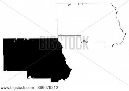 Stearns County, Minnesota (u.s. County, United States Of America, Usa, U.s., Us) Map Vector Illustra