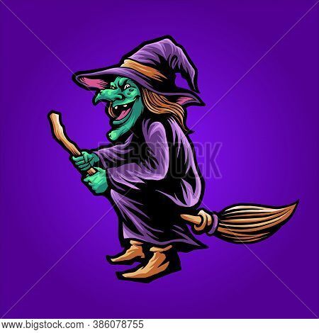 Shaman Magic Witchcraft Halloween Illustrations Fot Merchandise Apparel Business