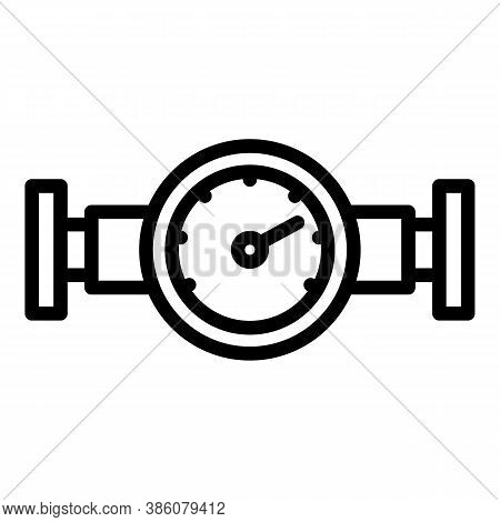 Manometer Water Icon. Outline Manometer Water Vector Icon For Web Design Isolated On White Backgroun