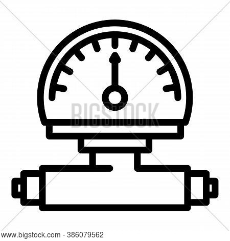 Manometer Reading Icon. Outline Manometer Reading Vector Icon For Web Design Isolated On White Backg
