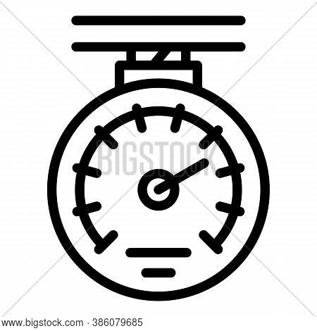 Manometer Device Icon. Outline Manometer Device Vector Icon For Web Design Isolated On White Backgro