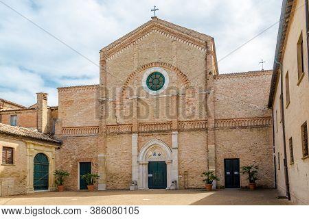 View At The Cathedral Of Santa Maria Assunta In Pesaro - Italy