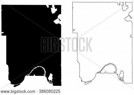Ramsey County, Minnesota (u.s. County, United States Of America, Usa, U.s., Us) Map Vector Illustrat