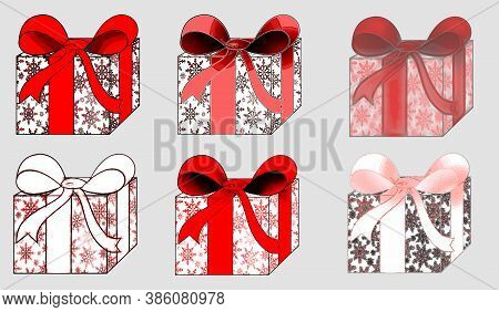 Beautiful Background With Colorful Gifts On A Light Background