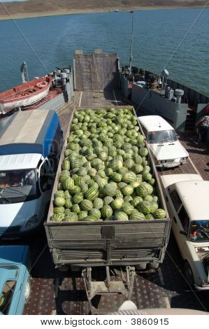 This is a transportation of watermelons
