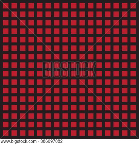 Red And Black Geometric Seamless Background. Checkered Pattern. Template For Fabrics For Clothes. Ve