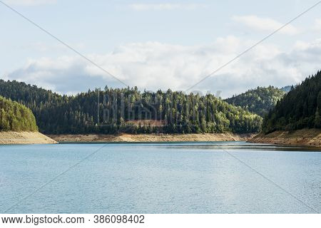 View Of The Zaovine Lake In Mountain Tara