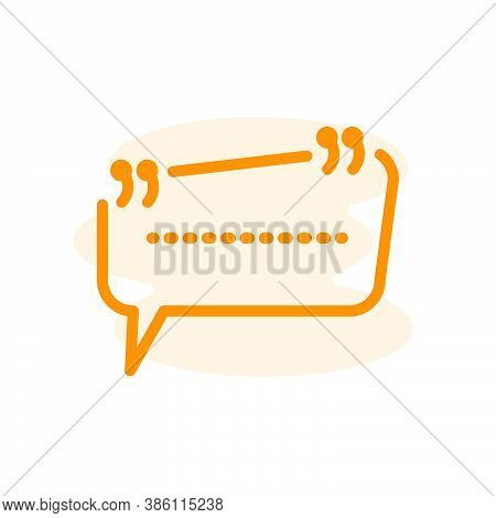 Illustration Vector Graphic Of Quote Icon. Fit For Message, Information, Remark, Testimonial Etc.