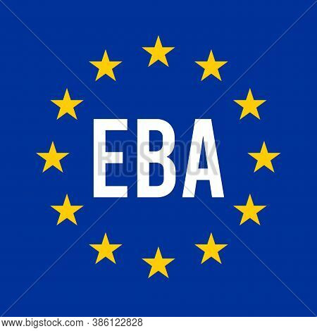 Eba, European Banking Authority Symbol With A White Background