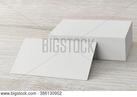 Mockup Of Horizontal Business Card.