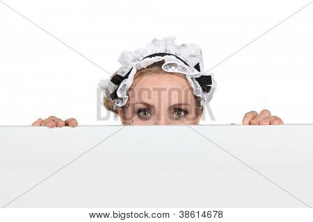 Woman in maid outfit