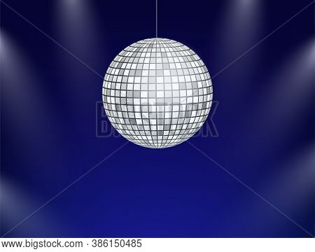 Dance Floor. Night Disco Parties. Retro Vintage Neon Grid Dance Floor Horizon. Vector Stock Illustra