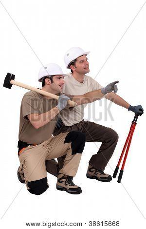 Demolition workers
