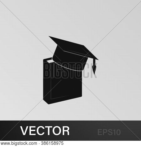 Book And Bachelor Hat Icon. Education, Academic Degree. Signs, Outline Symbols Collection, Simple Ic