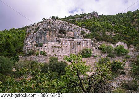 Pustinja Blaca Hermitage In Stone Desert. Brac Island, Dalmatia, Croatia.