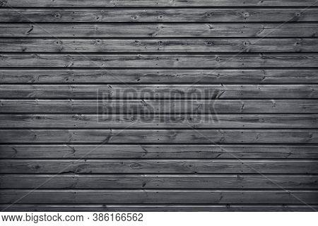 Wood planks horizontal slats texture or black background