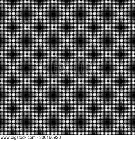 Seamless Surface Pattern With Symmetric Geometric Ornament. Round Spots Texture. Circles Abstract Ba