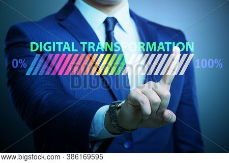 Digital transformation and digitalization concept