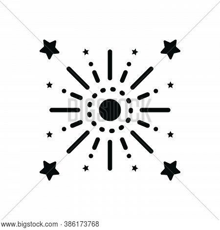 Black Solid Icon For Celebrate Coax Solemnize Memorialize Party Firework Feast Decoration Event Fest