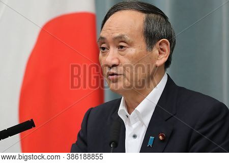 Japan's Newly Elected Prime Minister Yoshihide Suga In Meeting In Tokyo, September 2020