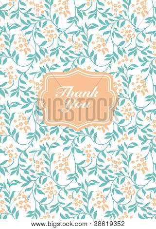 Vector Flower Thank You Frame. Easy to edit. Perfect for invitations or announcements.