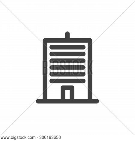 Office Building Line Icon. Linear Style Sign For Mobile Concept And Web Design. Townhouse Outline Ve