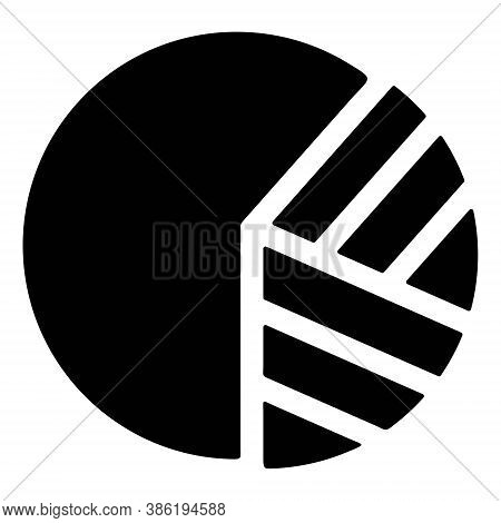 Pie Chart Infographic Element. Business Pie Diagram, Graph, Finance Analytics Report Sign. Statistic