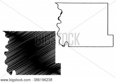 Harrison County, Iowa (u.s. County, United States Of America, Usa, U.s., Us) Map Vector Illustration