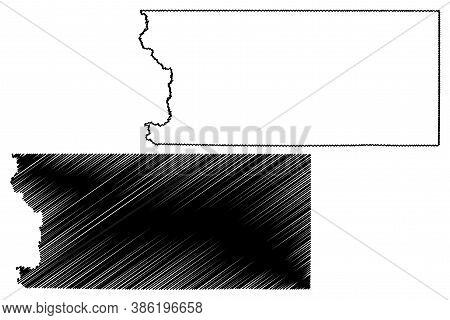 Lyon County, Iowa (u.s. County, United States Of America, Usa, U.s., Us) Map Vector Illustration, Sc