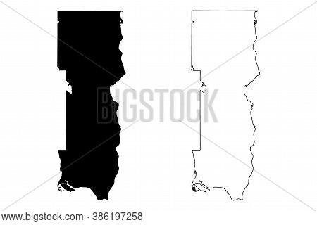 Washington County, Minnesota (u.s. County, United States Of America, Usa, U.s., Us) Map Vector Illus