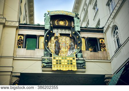 Wien, Austria - The Plague Column Or Pestsäule Or The Column Of The Pest N Graben Street. Details