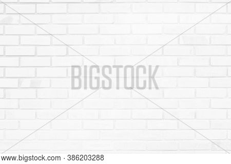 White Brick Wall Texture Background In Room At Subway. Brickwork Stonework Interior, Rock Old Concre