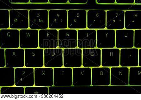 A Major Closure Of The Backlit Keyboard Laptop, Backlit Keyboard