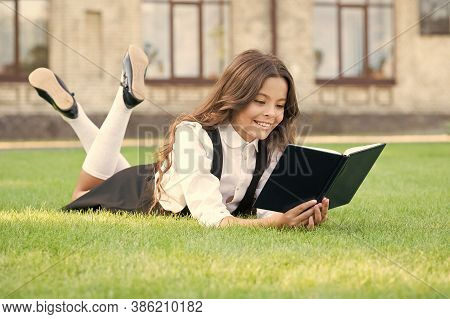 Basic Education. Educational Book. Literature For Kids. Lesson On Fresh Air. Cute Small Child Readin