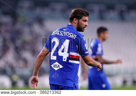 Torino, Italy. 20th September 2020. Italian Serie A. Bartosz Bereszynski Of Uc Sampdoria During The