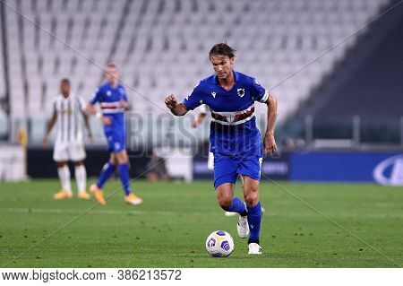 Torino, Italy. 20th September 2020. Italian Serie A. Albin Ekdal Of Uc Sampdoria In Action During Th