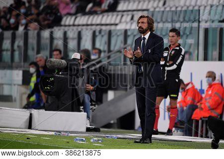 Torino, Italy. 20th September 2020. Italian Serie A. Andrea Pirlo , Head Coach Of Juventus Fc, Durin