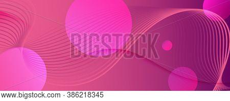 Color Flow Wave. Pink Gradient Wallpaper. 3d Fluid Lines. Digital Pattern.  Color Flow Wave. Vivid M