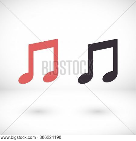 Music Icon Vector, Melody, Song, Note, Sound, Audio Sign Isolated On White Background Icon Vector. T