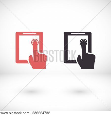Vector Icon Touch Screen, Design Illustration Touch Screen. Flat Touch Screen