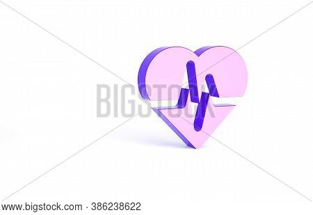 Purple Health Insurance Icon Isolated On White Background. Patient Protection. Security, Safety, Pro