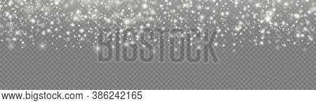 The White Dust Sparks And Star Shine With Special Light, Christmas Sparkl Light Effect, Sparkling Ma