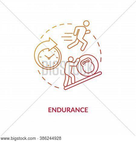 Enhance Endurance Concept Icon. Sports Energy Drinks Idea Thin Line Illustration. Muscle Strength. S