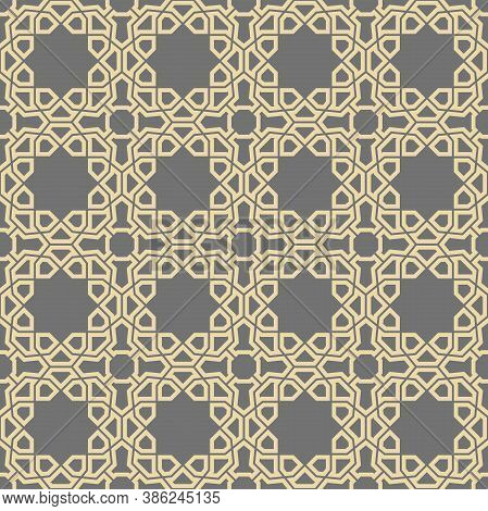Seamless Vector Ornament In Arabian Style. Geometric Abstract Background. Pattern For Wallpapers And