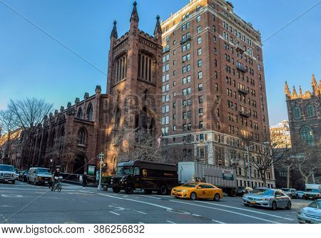 USA, New York 1.14.2015 ,   5th Ave & W 10th St, NY 10011, United States,  Church of the ascension building