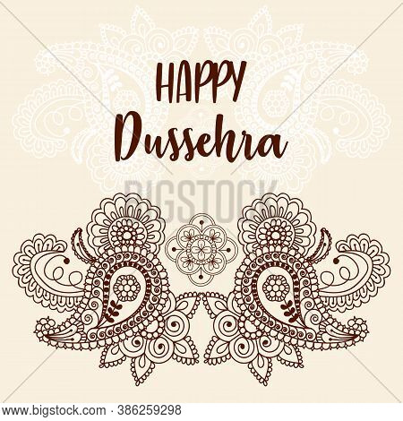 Happy Dussehra Festival Card. Happy Dussehra Festival Of India Background.