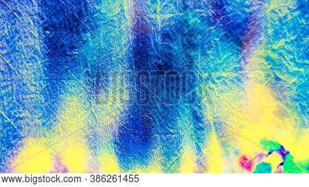 Bleach Tie Dye. Sapphire Design.  Sapphire Artwork. Indigo Trandy Design. Abstract Dyed Poster.  Vin