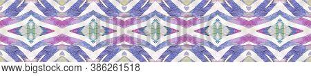 Aztec Rugs. Repeat Tie Dye Illustration. Ethnic Indonesian Print. Abstract Shibori Design. Pastel Bl